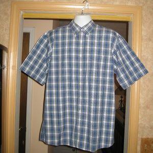 Jos. A. Bank Men's Button Down Short Sleeve Shirt
